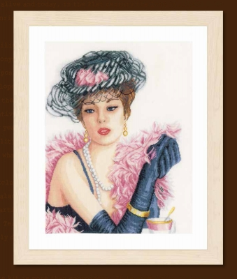 click here to view larger image of Elegant Lady (counted cross stitch kit)