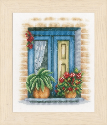 click here to view larger image of Blue Window (counted cross stitch kit)