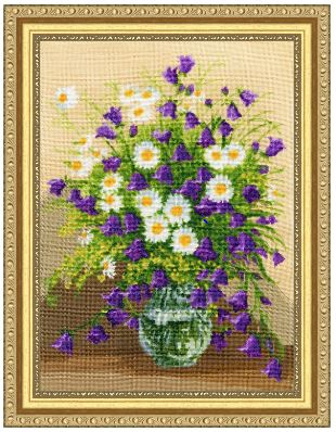 click here to view larger image of Bells and Chamomiles (counted cross stitch kit)