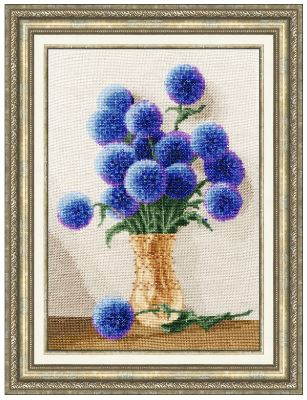 click here to view larger image of Azure Bouquet (counted cross stitch kit)