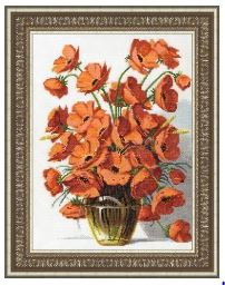 click here to view larger image of Californian Poppies (counted cross stitch kit)