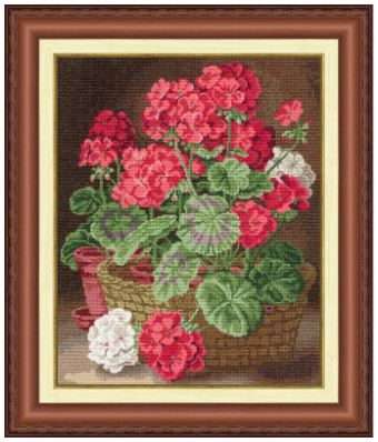 click here to view larger image of Geranium (counted cross stitch kit)