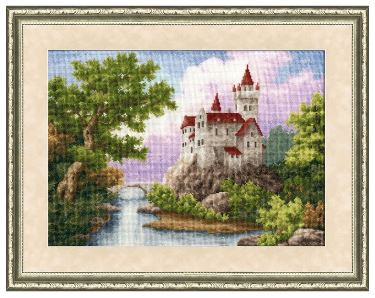 click here to view larger image of Castle (counted cross stitch kit)