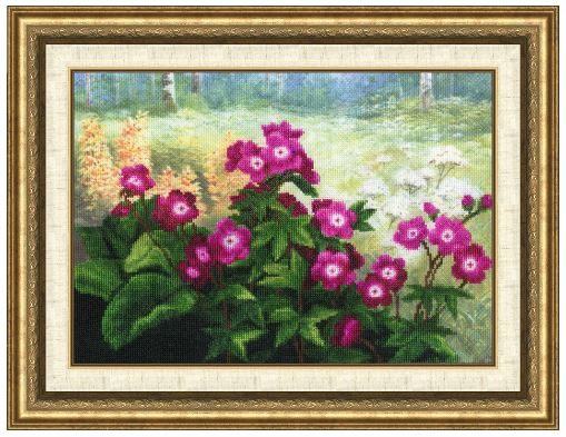 click here to view larger image of Forest Violets (counted cross stitch kit)