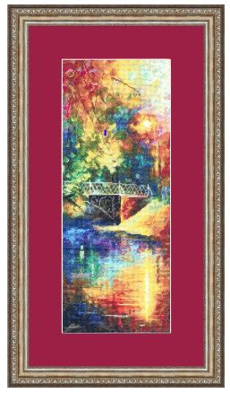 click here to view larger image of Autumn Blues (counted cross stitch kit)