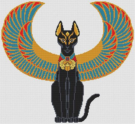 click here to view larger image of Egyptian Cat (chart)
