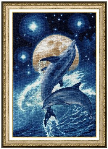 Dolphins - click here for more details about counted cross stitch kit