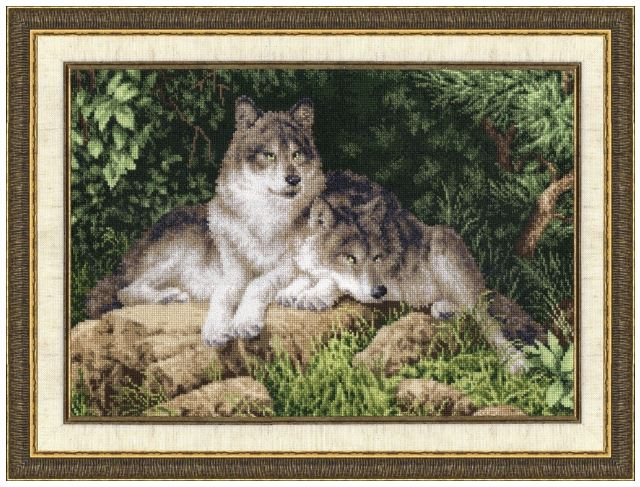 click here to view larger image of Winter Predators (counted cross stitch kit)
