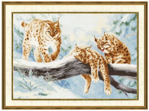 click here to view larger image of Lynx (counted cross stitch kit)