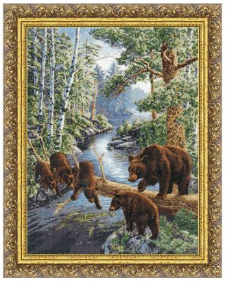 click here to view larger image of Bear Heaven (counted cross stitch kit)