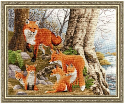 click here to view larger image of Red Head Family (counted cross stitch kit)
