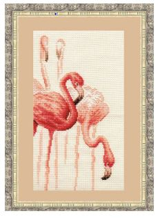 click here to view larger image of Flamingo 1 (counted cross stitch kit)