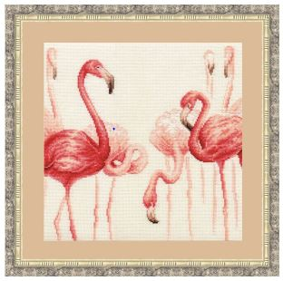 click here to view larger image of Flamingo 2 (counted cross stitch kit)