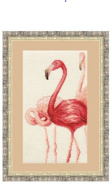 click here to view larger image of Flamingo 3 (counted cross stitch kit)