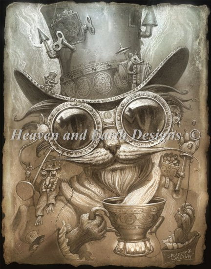 click here to view larger image of Steam Punk Cat Daddy - Color (chart)