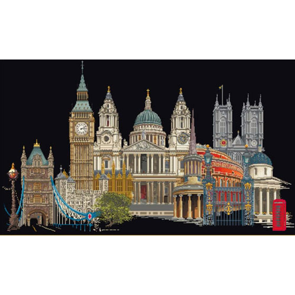 click here to view larger image of London - On Black (counted cross stitch kit)