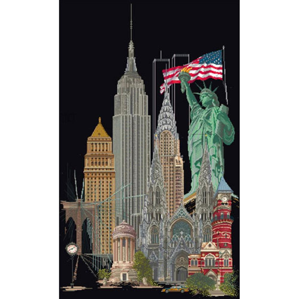 click here to view larger image of New York - On Black (counted cross stitch kit)