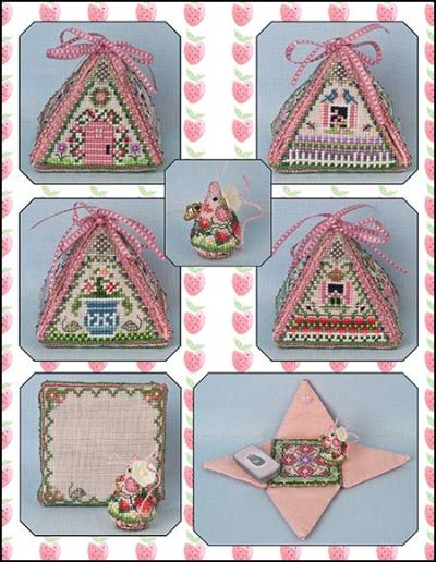 Summer Mouse In A House - Limited Edition chart - click here for more details about chart with charms/buttons