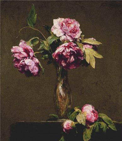 click here to view larger image of Peonies  (Henri Fantin-Latour) (chart)
