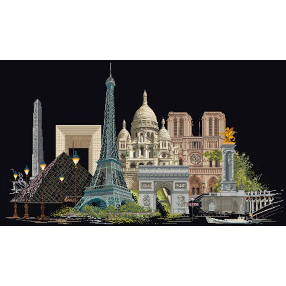 click here to view larger image of Paris - On Black (counted cross stitch kit)