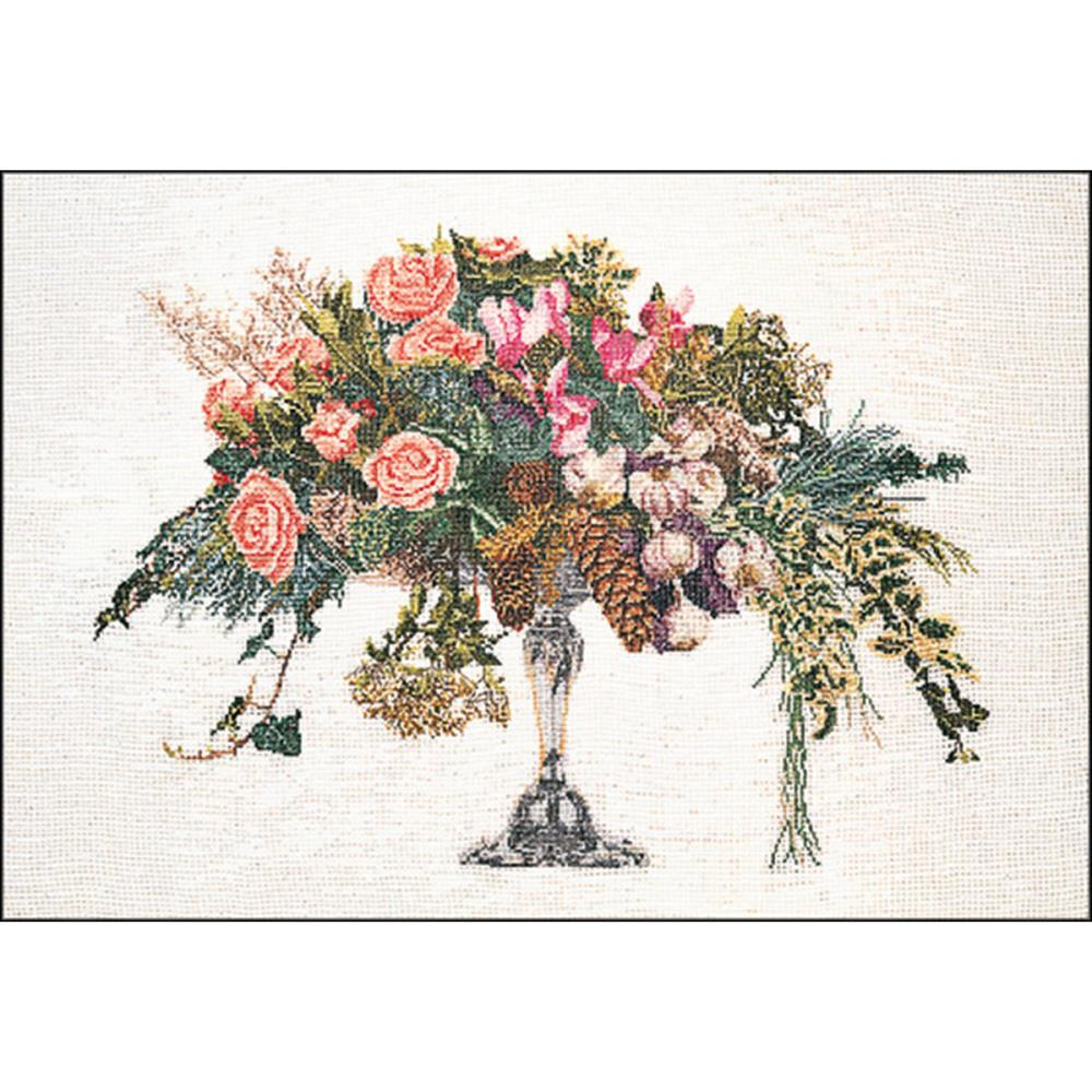 click here to view larger image of Winter Bouquet - Aida (counted cross stitch kit)