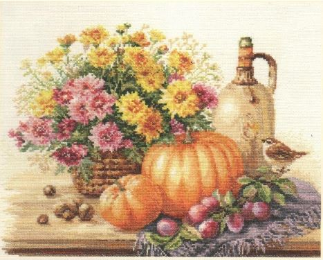 click here to view larger image of Still Life with Pumpkin (counted cross stitch kit)