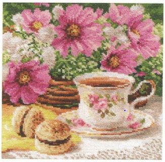 click here to view larger image of Morning Tea (counted cross stitch kit)