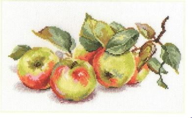 click here to view larger image of Apples (counted cross stitch kit)