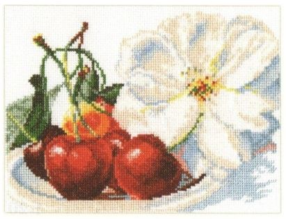 click here to view larger image of Cherries (counted cross stitch kit)