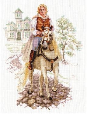 click here to view larger image of Prince on the White Horse (counted cross stitch kit)