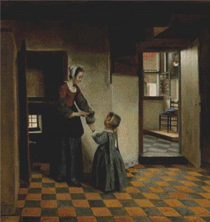 click here to view larger image of Woman With A Child In A Pantry, A (chart)