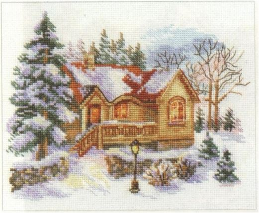 click here to view larger image of February House (counted cross stitch kit)