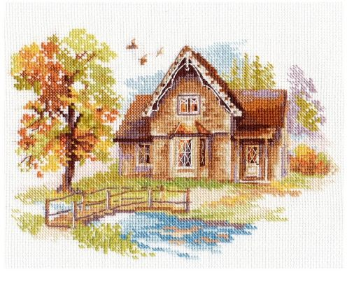 click here to view larger image of July House (counted cross stitch kit)