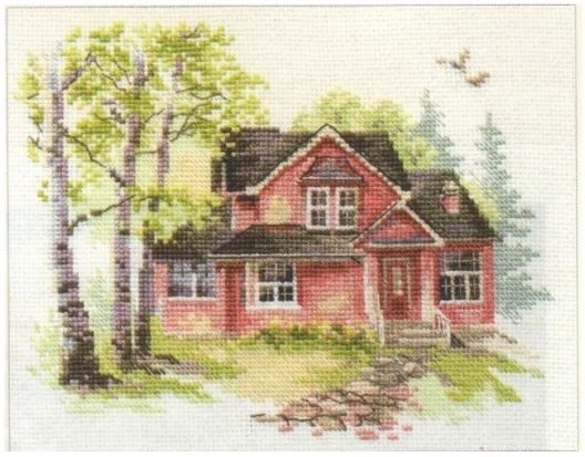 click here to view larger image of May House (counted cross stitch kit)
