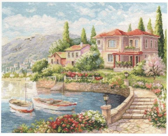 click here to view larger image of Morning on the Coast (counted cross stitch kit)