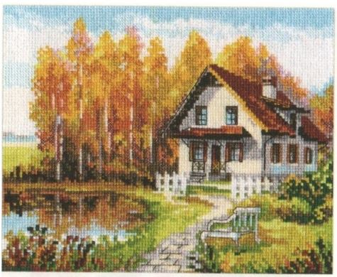 click here to view larger image of Visit to the Autumn (counted cross stitch kit)