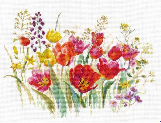 click here to view larger image of Wildflowers (counted cross stitch kit)