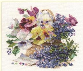 click here to view larger image of Message for the Beloved (counted cross stitch kit)
