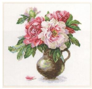 click here to view larger image of Blooming Garden - Peonies (counted cross stitch kit)