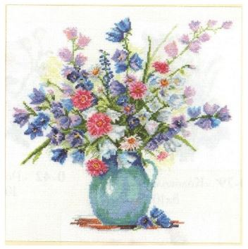 click here to view larger image of Bellflowers (counted cross stitch kit)