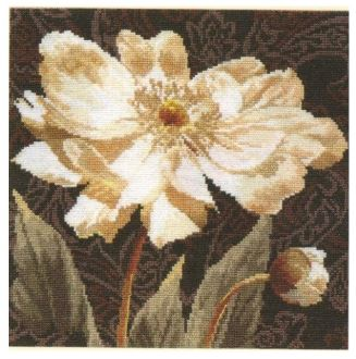 click here to view larger image of White Flowers (counted cross stitch kit)