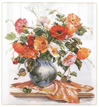 click here to view larger image of Flower Poesia (counted cross stitch kit)