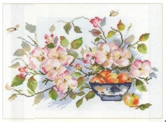 click here to view larger image of Apple Garden (counted cross stitch kit)