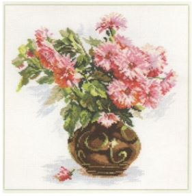 click here to view larger image of Blooming Garden - Chrysanthemums (counted cross stitch kit)