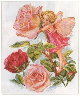 click here to view larger image of Fairy From The Pink Garden (counted cross stitch kit)
