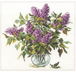 click here to view larger image of Bouquet of Lilacs (counted cross stitch kit)