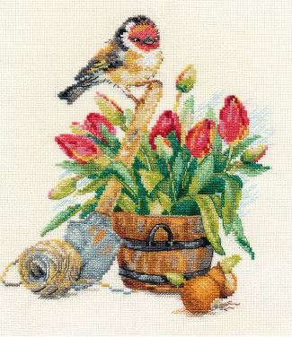 click here to view larger image of Spring Time (counted cross stitch kit)