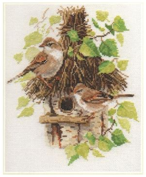 click here to view larger image of Warblers (counted cross stitch kit)