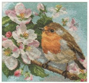 click here to view larger image of Robin (counted cross stitch kit)