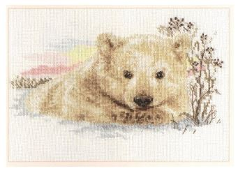 click here to view larger image of Northern Bear Cub (counted cross stitch kit)